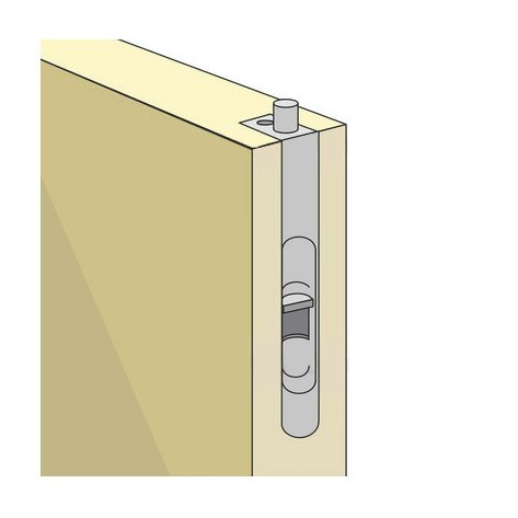 Flush Bolt Is A Bolt Installed On A Door Side In Order To Lock It In Place.  It Is Mainly Used In Double Door Configurations Where One Door Is Locked In  ...