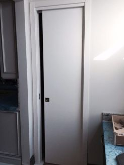 Pocket Door White Matt in home