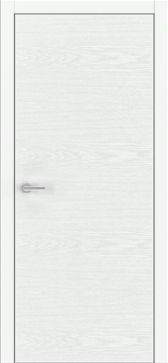 Unica White Ash - Solid Core Wood Modern Interior Door