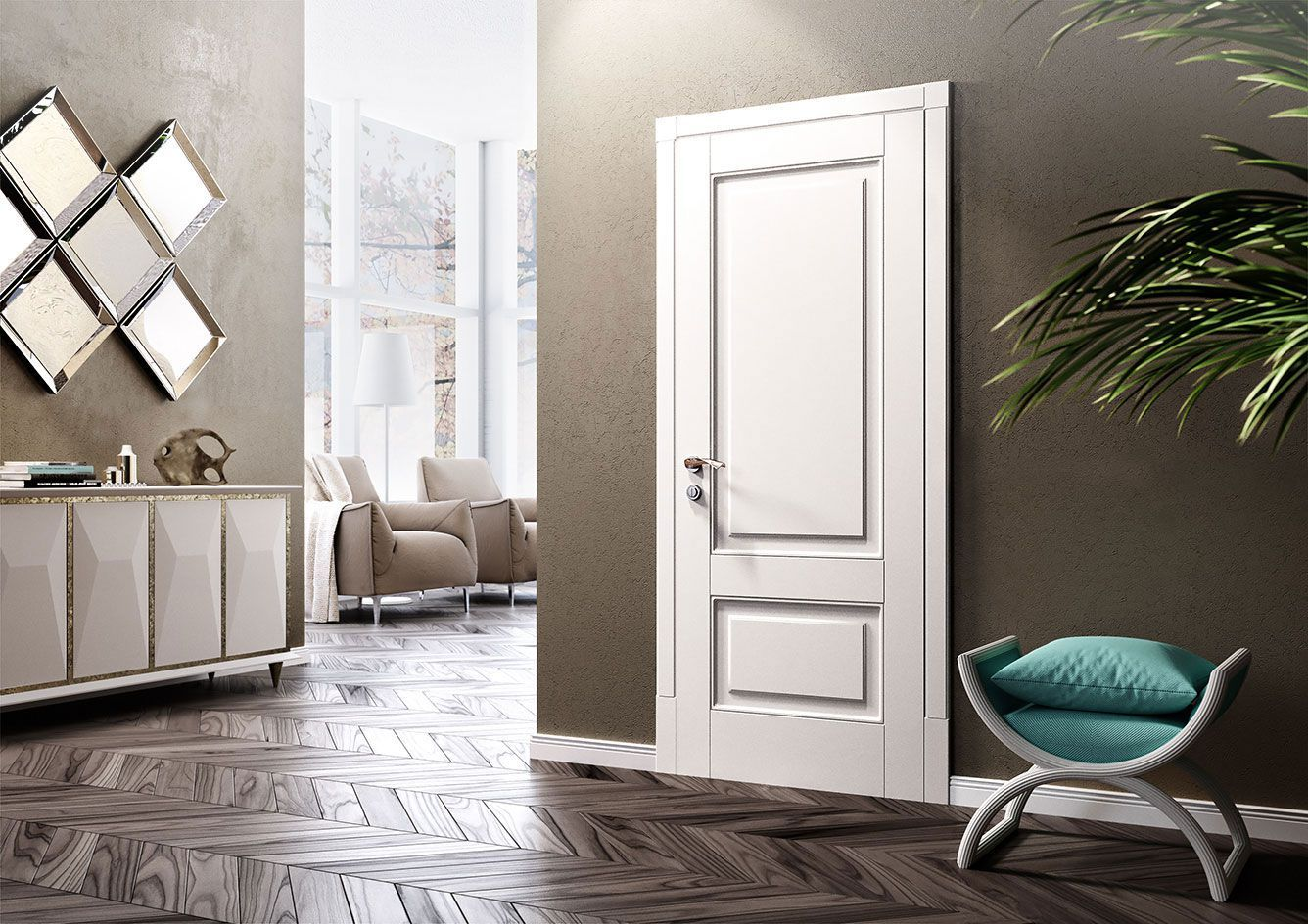 Interior Door in Living Room - Alicante model
