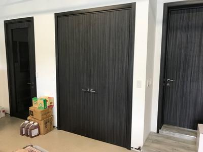 Сontemporary Interior Doors, Palissandro Blu - real project