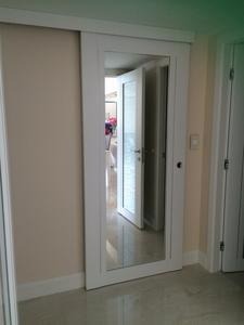 Barn Door w Mirror